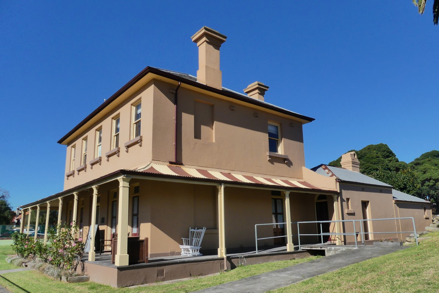 Thirning Villa. The location of the Ashfield & Districts Historical Society's Rooms in Pratten Park.